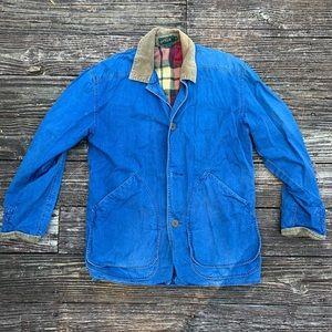 J. Crew | Men's flannel lined coat corduroy collar